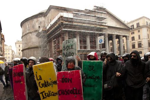 manifestazione studenti montecitorio